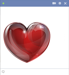Deep red heart for Facebook