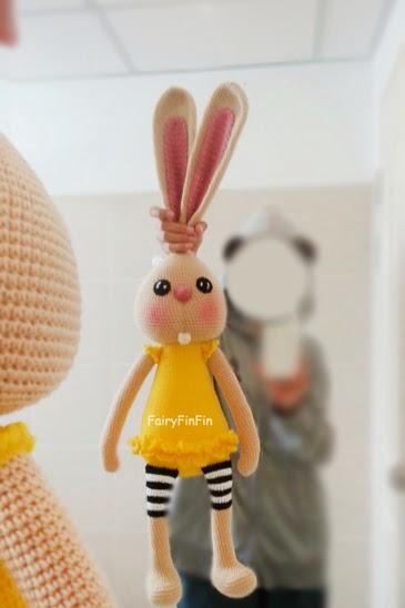 Amigurumi Doll Legs : FairyFinFin: Cute Crochet Long Ears Long Legs Long Arms ...