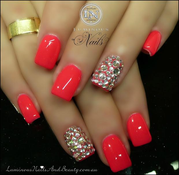 hot pink nail design - pccala