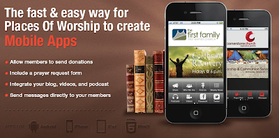 Mobile apps for Churches, temples, by Dovetanet Marketing.