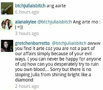 Is it reallyClaudine? What does Gretchen mean about her alleged