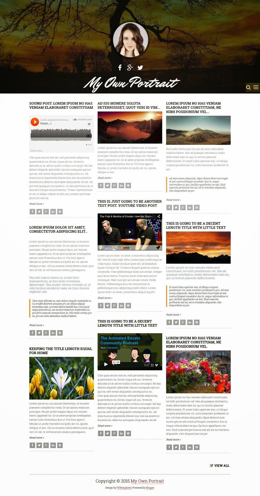 Premium Blogger Template 2015