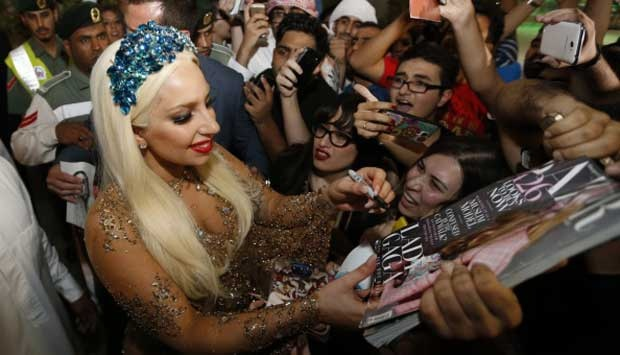 Foto: Lady Gaga di Dubai