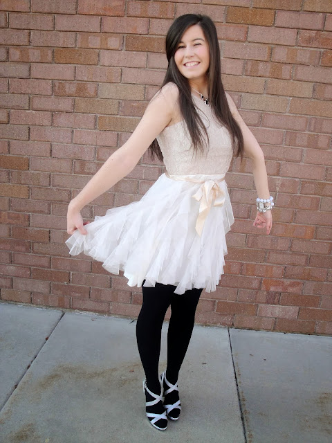 tulle, tulle skirt, tulle dress, pretty, high heels, silver heels, prom heels, macys, payless, jewerly, bracelets, watch, poofy skirt, poofy dress,