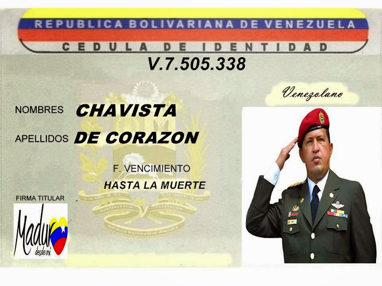 Cedula Chavista.