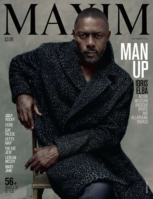Actor Idris Elba is the first man ever on the cover of Maxim