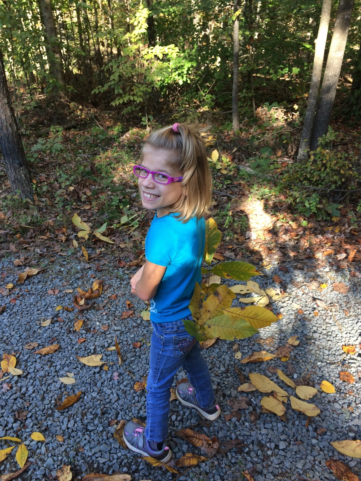 The johnson journals do it yourself homeschool journals review week 1 even baby ellie and i got some leaves solutioingenieria Image collections