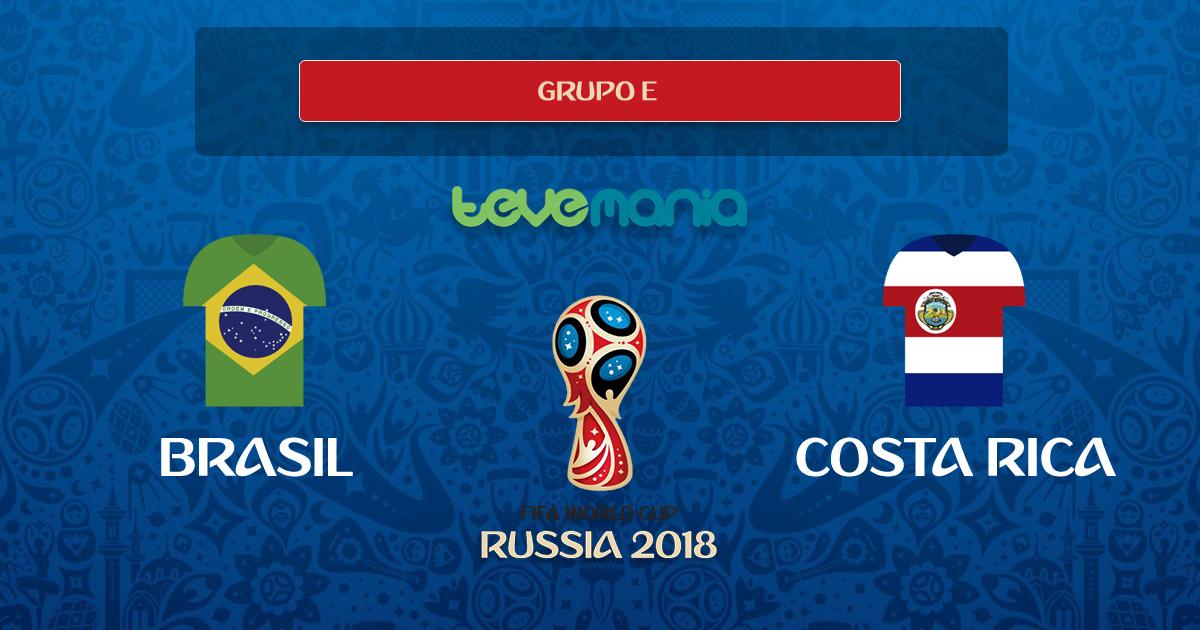 Brasil derrotó en los últimos minutos 2-0 a Costa Rica