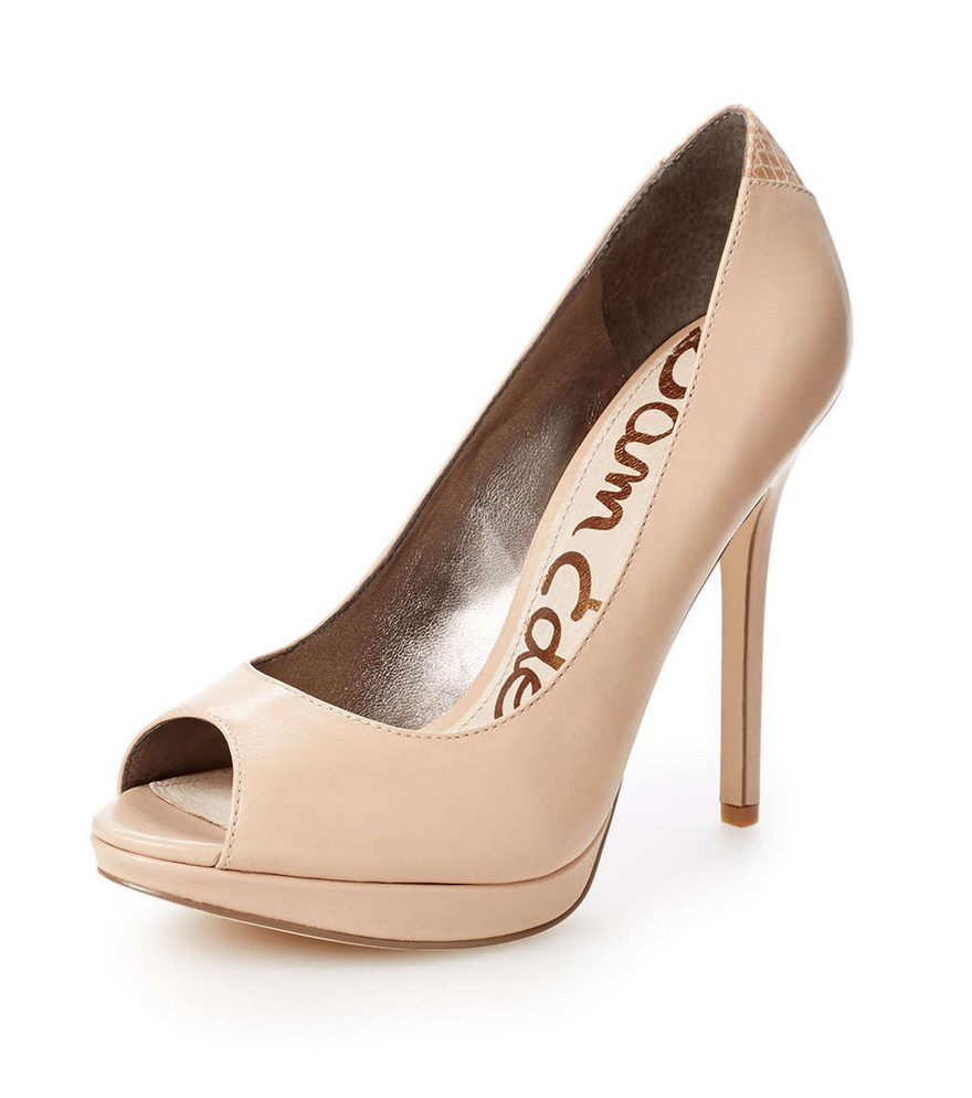 My Superficial Endeavors: Sam Edelman Ella Platform Peep Toe Pump