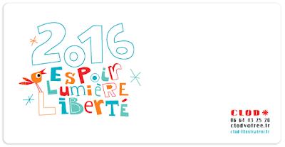 Carte de vœux Clod 2016