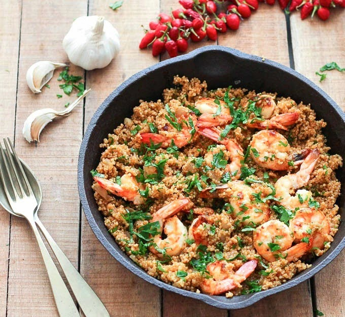 Health and Fitness: Garlic Shrimp and Quinoa – As Easy As ...