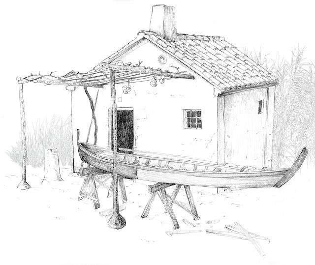 calafat,Abufera, Valencia, dibujo