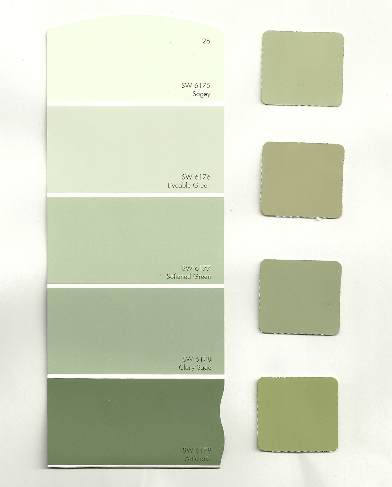 we are looking for a middle shade of olive or sage to compliment the