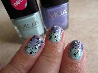 Sticks n' Stone - Ninja Polish gradient MUA nail polish