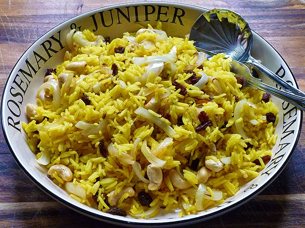 Spicy Cashew and Sultana Rice Recipe
