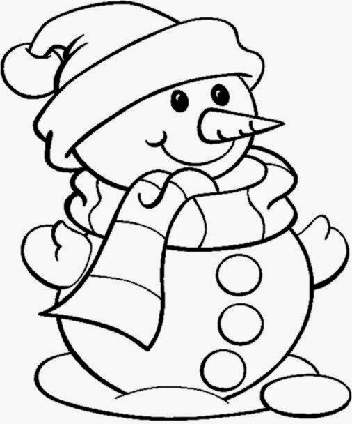 Cute Little Snowman Coloring Pages Christmas Coloring Pages