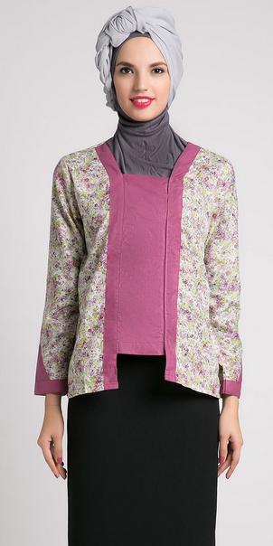 Gambar Model Baju Muslim Batik Terbaru 2015