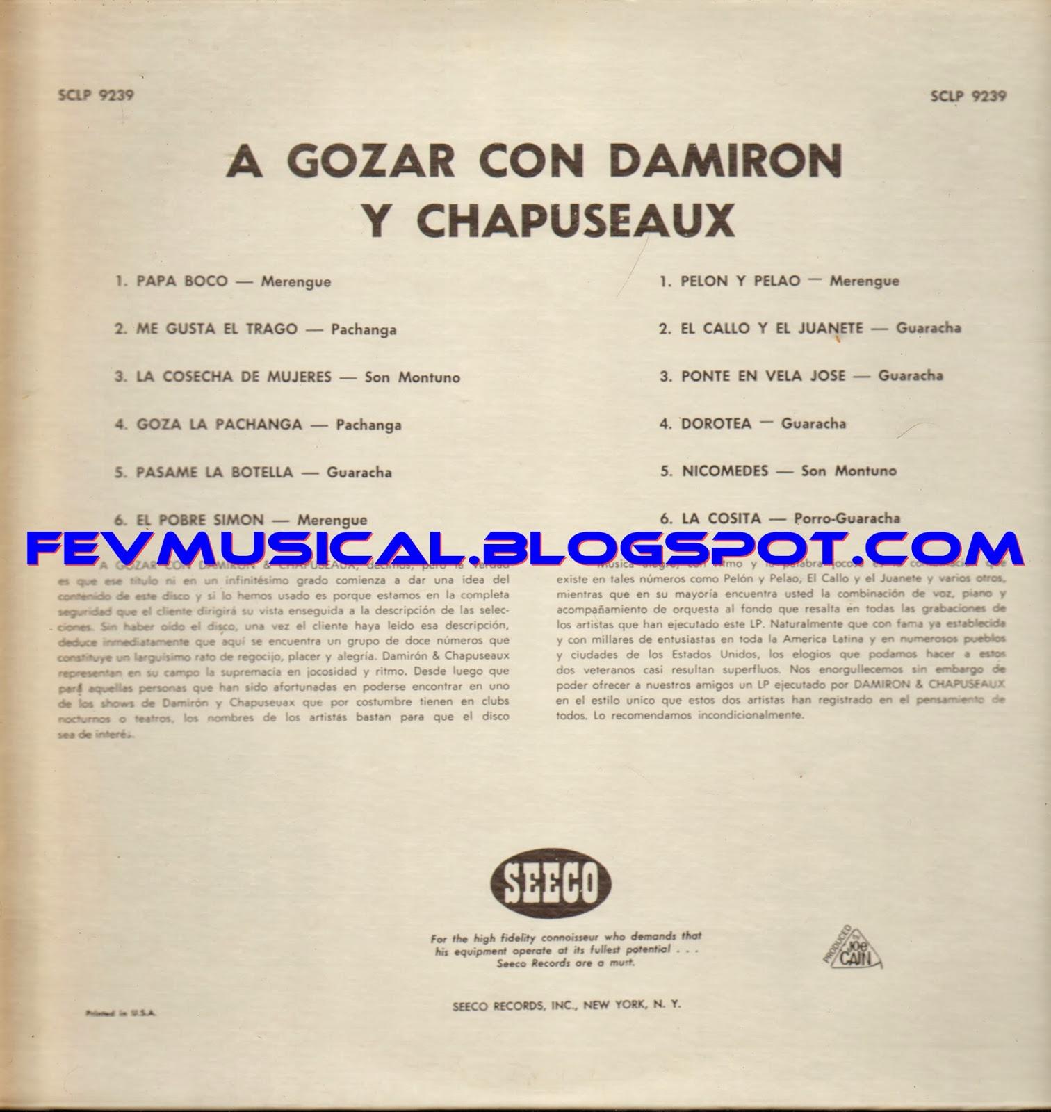 Damiron Y Chapuseaux Y Su Conjunto A Gozar Con