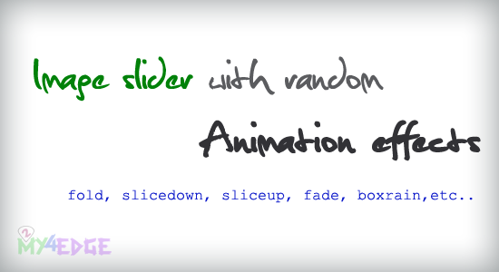 Image slider with random animation effects using Jquery