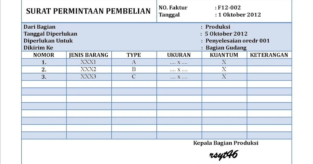Surat Permintaan Pembelian Kumpulan Contoh Surat Indonesia