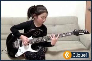 Menina de oito anos detona na Guitarra