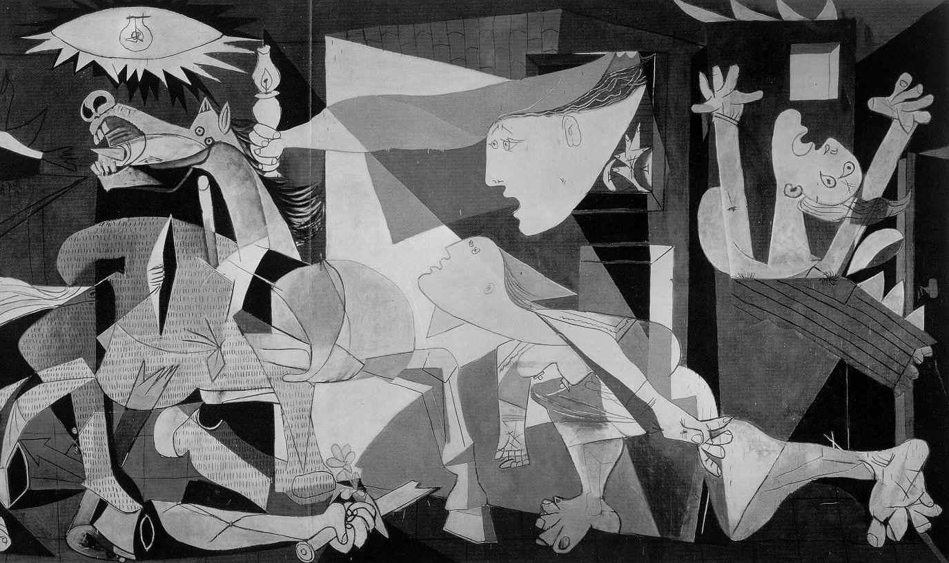 Las obras más conocidas de la pintura y la escultura. Guernica