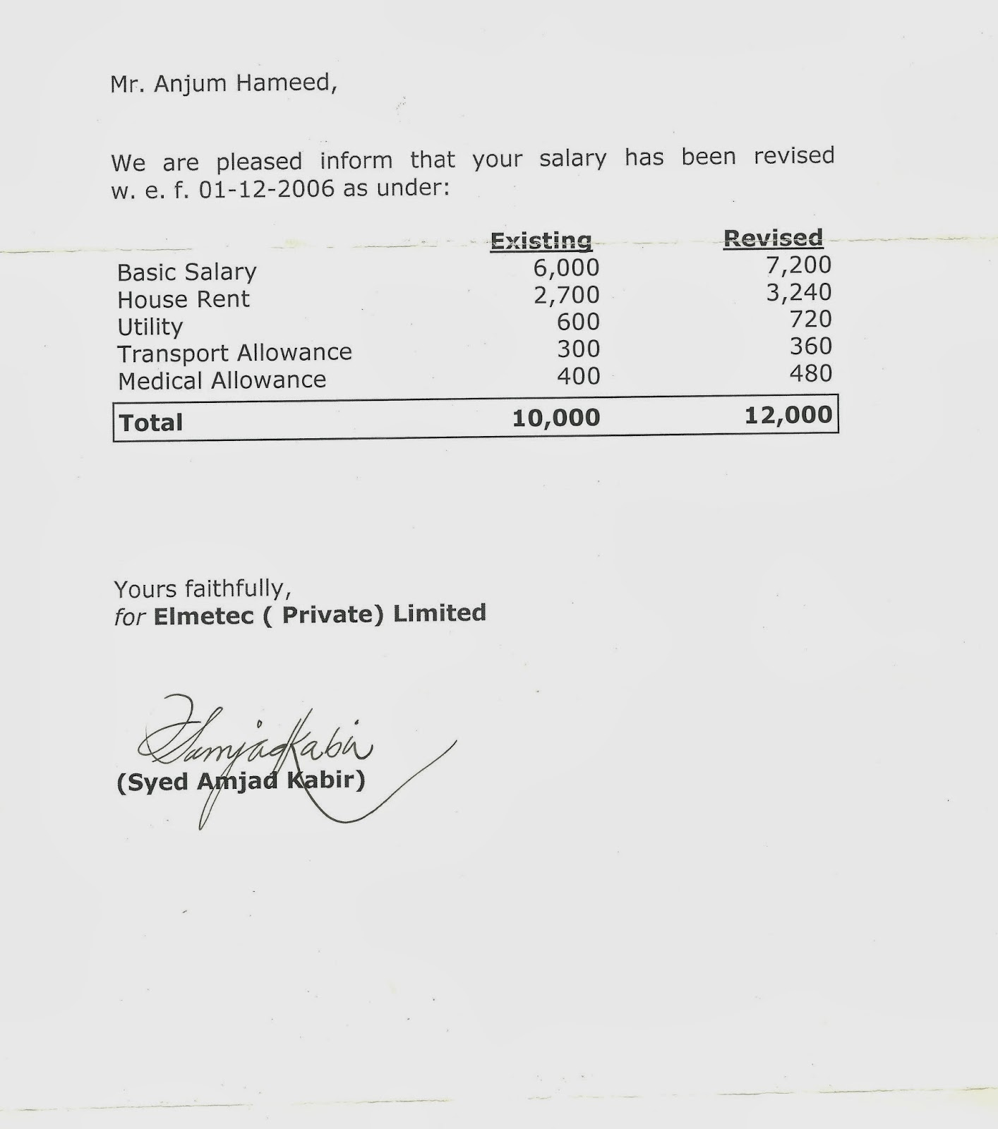 Salary Slip Sample Images – Simple Payslip Template