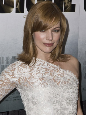Milla Jovovich Medium Length Hairstyles