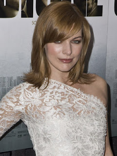 Milla Jovovich Medium length Haircut