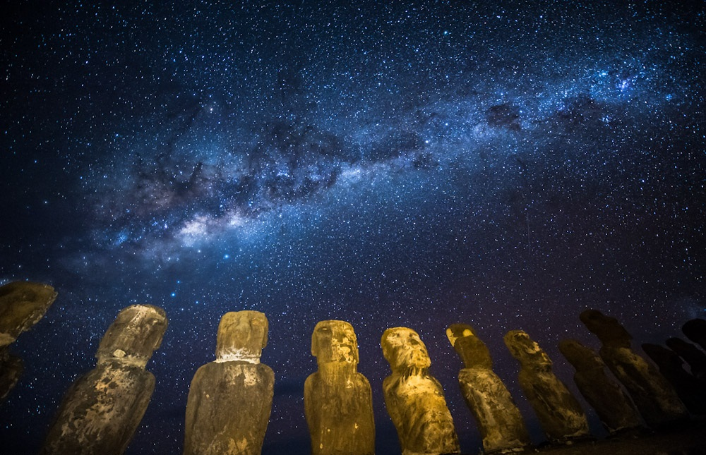 Milky Way Galaxy - Easter Island