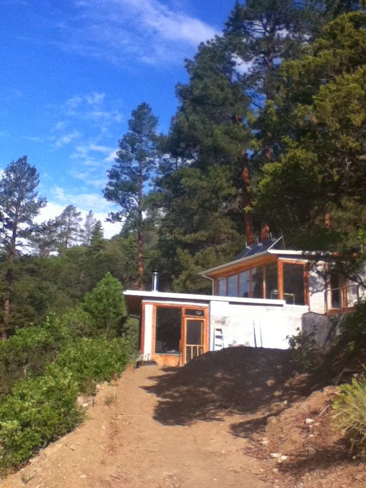 Our off-grid house we built ourselves, © 2010 Tina M Welter