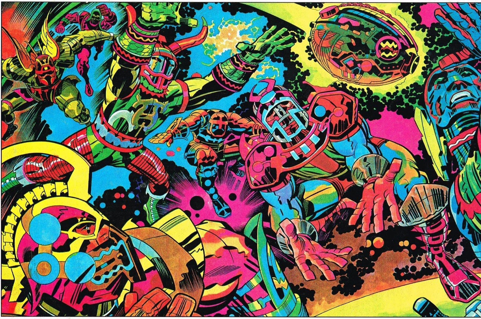 This Amazing Jack Kirby Illustration Once Ran In The NFLs Official