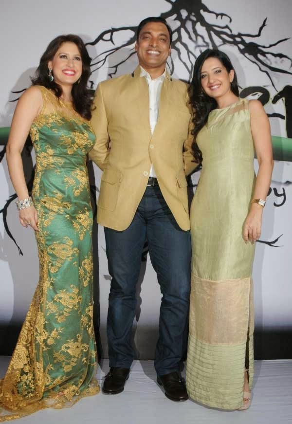 Amrita Raichand, cricketer Shoaib Akhtar and Amy Billimoria