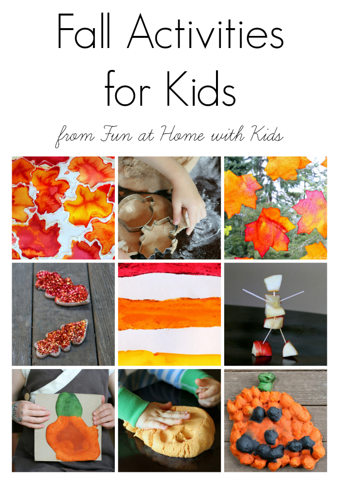15 easy fall activities for kids for Kid crafts at home