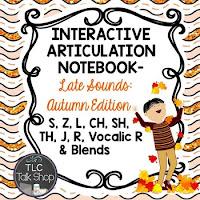 https://www.teacherspayteachers.com/Product/Interactive-Articulation-Notebooks-Later-Sounds-Autumn-Edition-1982070
