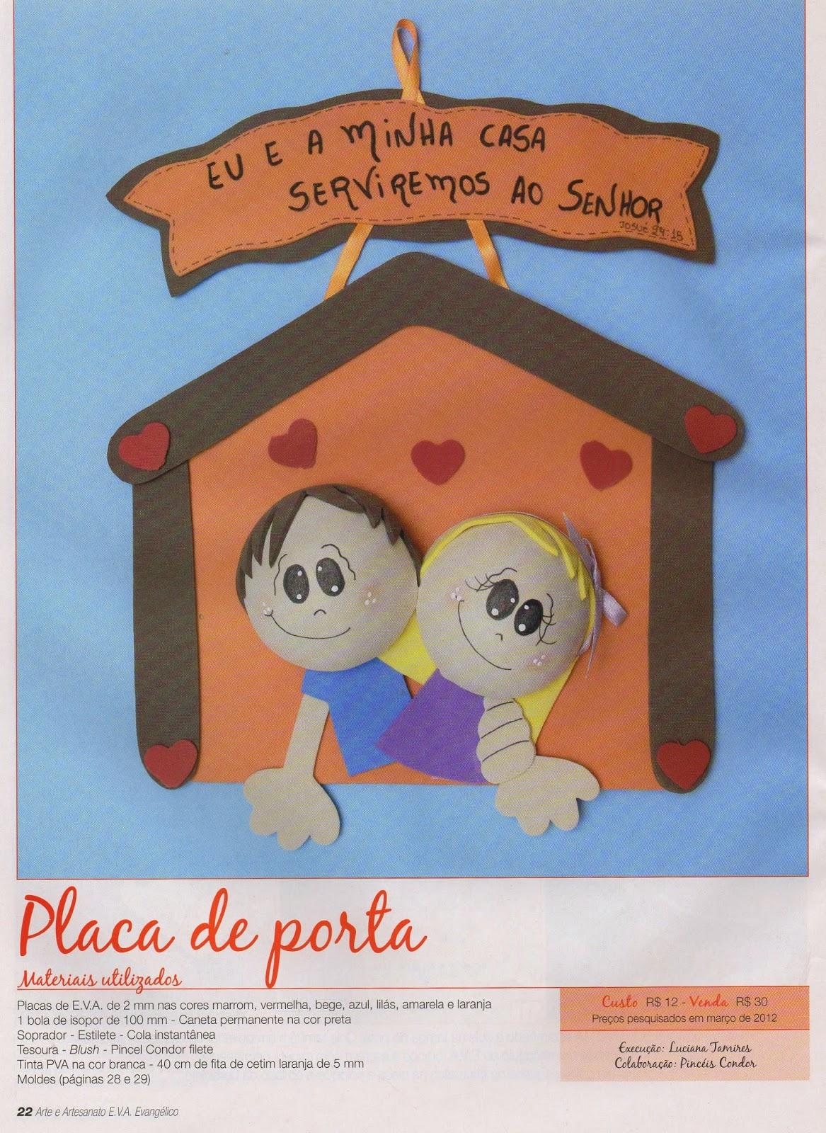 Aparador Blanco Y Roble ~ Escola Dominical Infantil Arte e Artesanato EVA