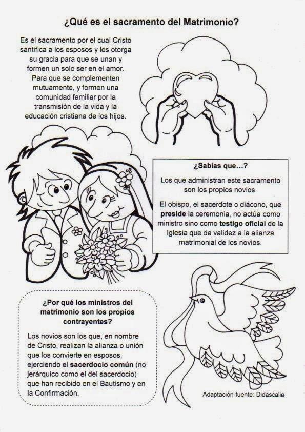Matrimonio Catolico Dibujo : La catequesis recursos sacramento matrimonio