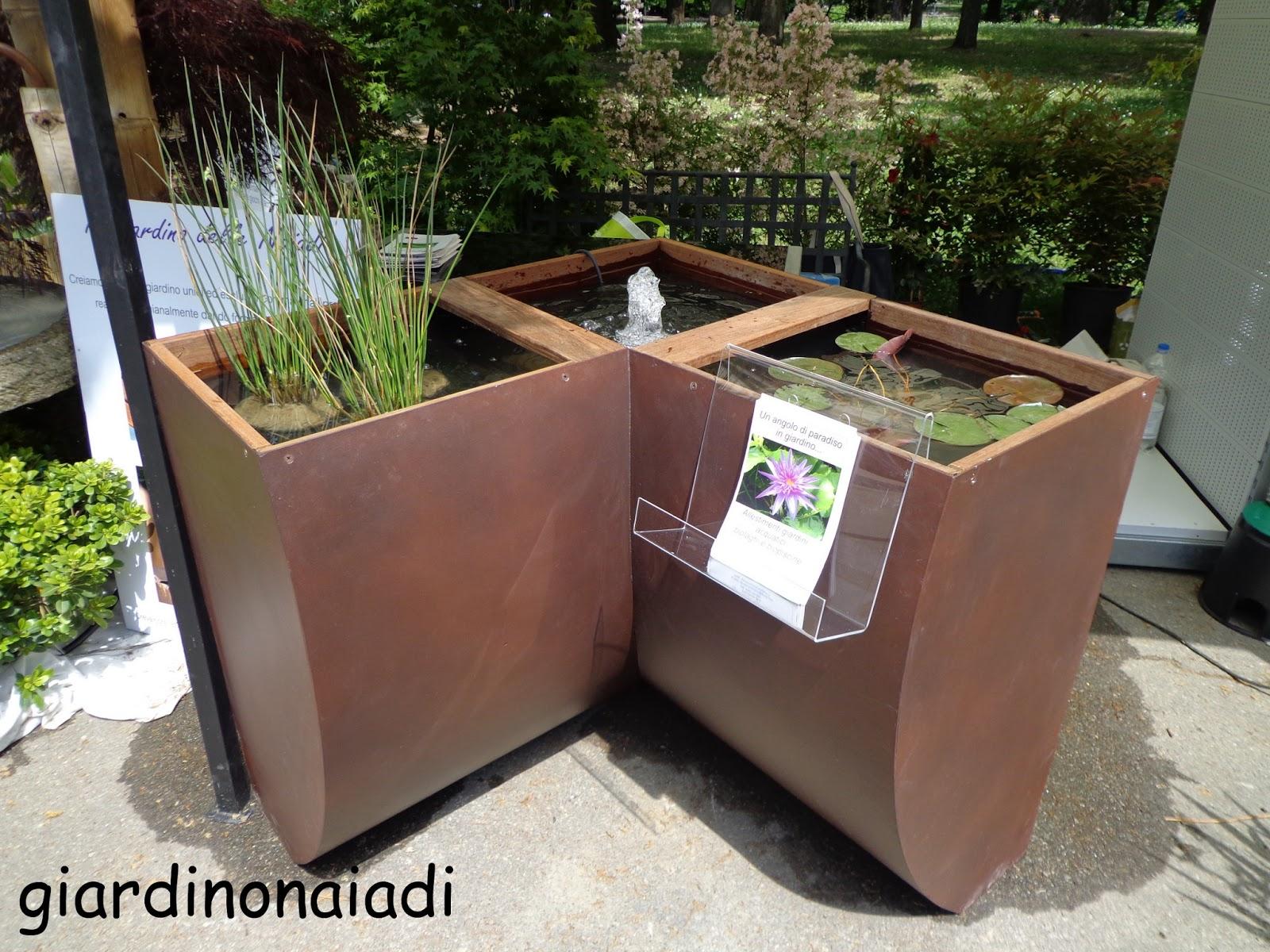 Il giardino delle naiadi giardini e terrazzi 2013 for Laghetto da interno