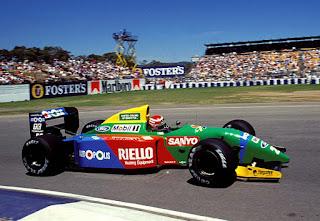 Benetton, equipe histórica da Formula 1 de 1990 - by paddockinfo.blogspot.com