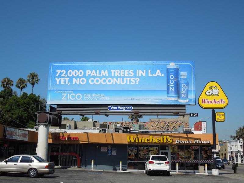 Zico No coconuts billboard