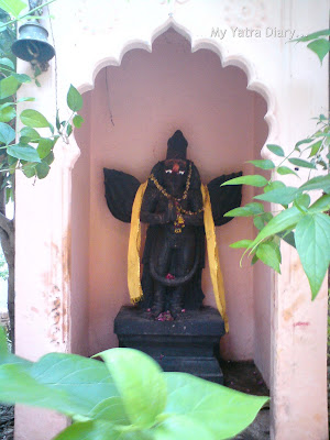 Deity of Garud in Adi Varah Temple, Mathura