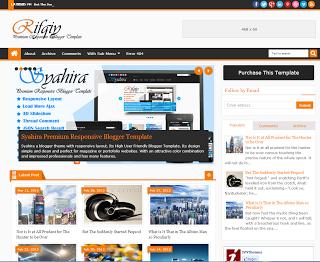 Teması olan seo uyumlu rifqiy responsive türkçe blogger teması