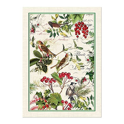 Michel Design Works Winteru0027s Tale Cotton Kitchen Towel Green