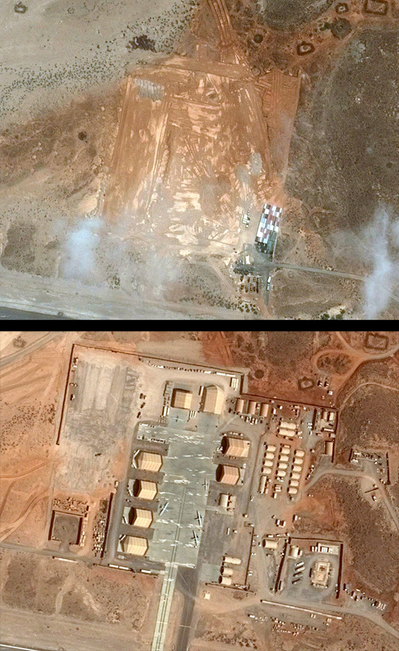 Satellite Photos show the rapid expansion of a US drone base in Chabelley, Djbouti.