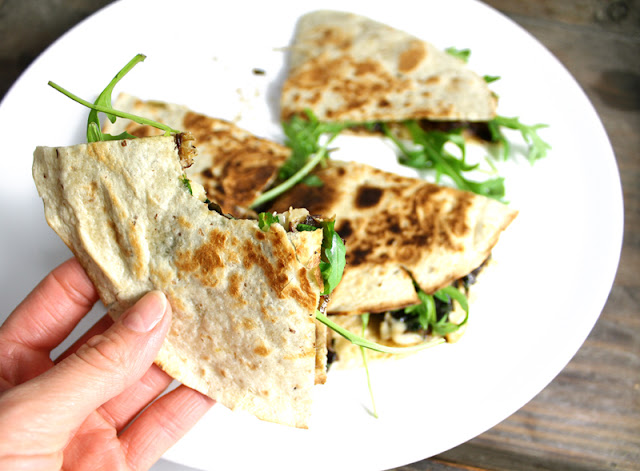 Oppskrift Quesadilla Aubergine Hvitløk Hjemmelaget Meksikansk Mat Vegansk Vegetar Tortilla