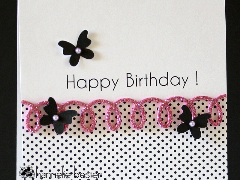 butterfly and loopy border die birthday card