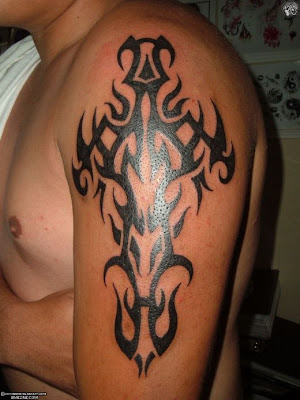 cross tattoos for men. Tribal Cross tattoos for men