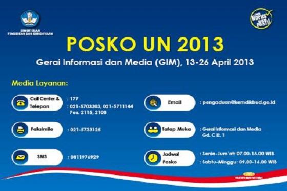 Posko Ujian Nasional (UN) 2013 Kementerian Pendidikan dan Kebudayaan