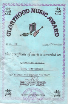 THIS CERTIFICATE OF MERIT IS AWARDED TO:
