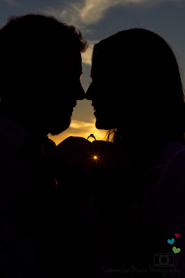 silhouette of couple with rings